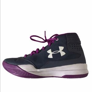 Under armour basketball shoes girls size 4Y purple